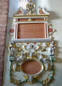 St Martin's, Exeter - C17 Monument