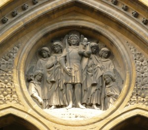 St Michael & Angels - West Front Roundel