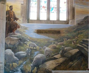 Mural of St Peter Lamerton