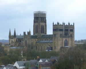 Durham Cathedral from train